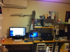 ホームエレクタで作り直した机